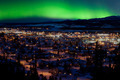 Northern Lights over Downtown Whitehorse - PhotoDune Item for Sale