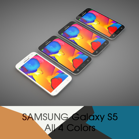 3DOcean Samsung GALAXY S5 All four colors 9550489