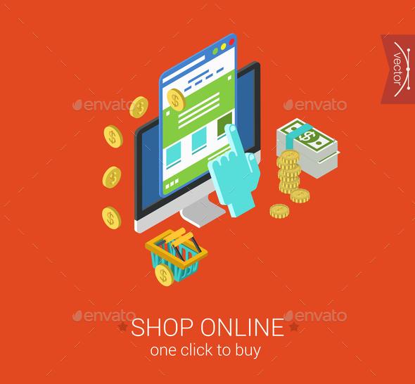 GraphicRiver Shop Online Concept 9550729