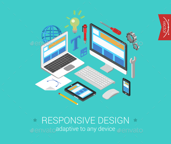 GraphicRiver Responsive Design Concept 9550734