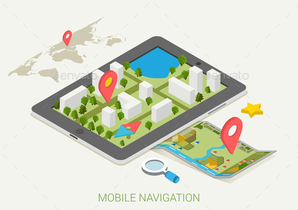 GraphicRiver Mobile Navigation Concept 9550746