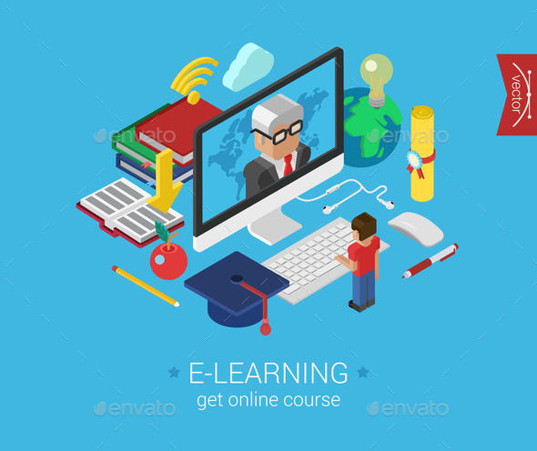 GraphicRiver E-Learning Concept 9550749