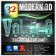 32 Modern 3D_Bundle (Vol.5-8) - GraphicRiver Item for Sale