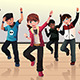 Kids in Hip Hop Dance Class - GraphicRiver Item for Sale