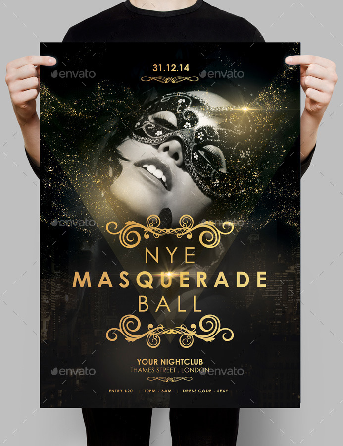 NYE Masquerade Ball Flyer by spacemandesign | GraphicRiver