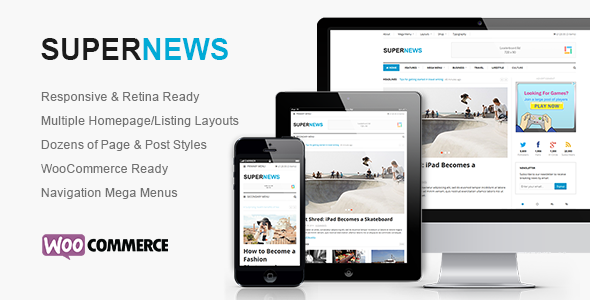 ThemeForest SuperNews Ultimate HTML5 Magazine Template 9411878