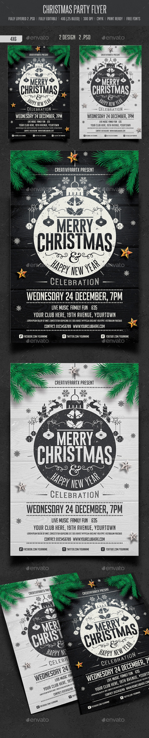 GraphicRiver Christmas Party Flyer 9551250
