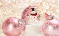 Snow globe with pink ornaments - PhotoDune Item for Sale