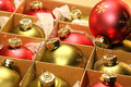 Christmas balls in box with paper wrapping - PhotoDune Item for Sale