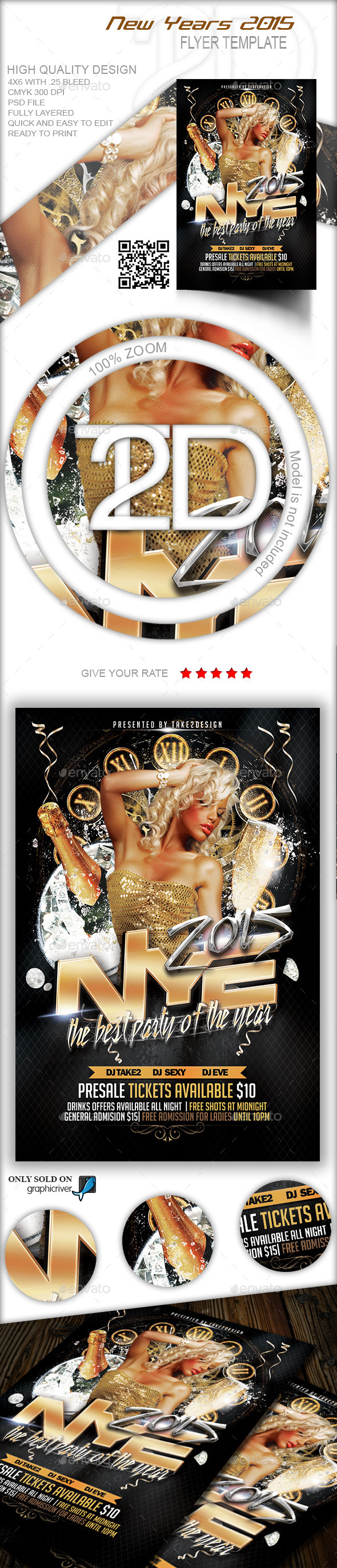 GraphicRiver New Years 2015 Flyer 9552137