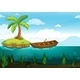 Plam Tree and Rowboat - GraphicRiver Item for Sale