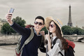 Asian couple travel and selfie - PhotoDune Item for Sale