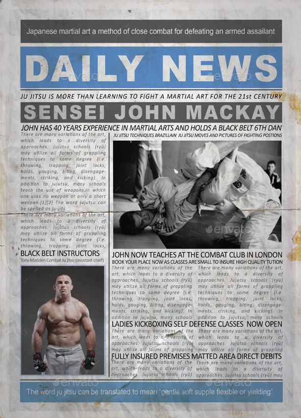 GraphicRiver Dirty Newspaper 9472337