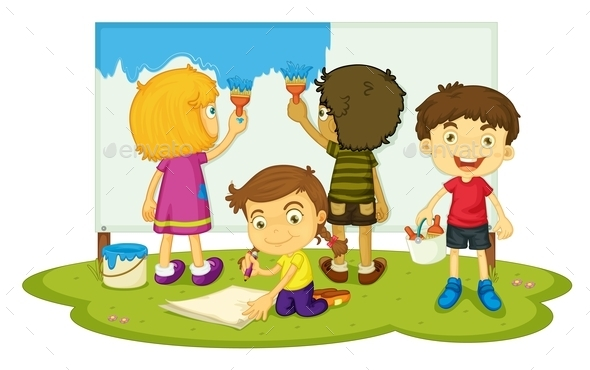 GraphicRiver Children Painting 9552397
