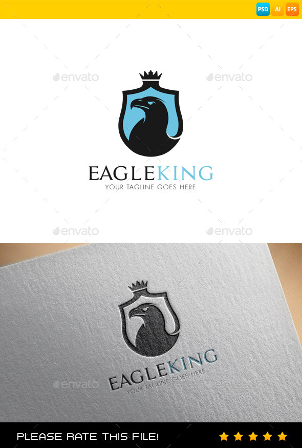 GraphicRiver Eagle King Logo 9488828