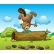 A Playful Beaver - GraphicRiver Item for Sale