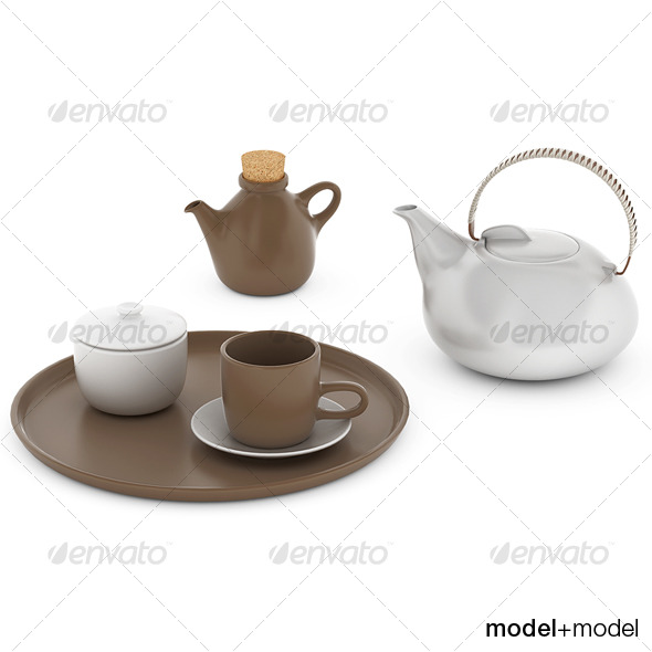 Heath ceramics tea set - 3DOcean Item for Sale