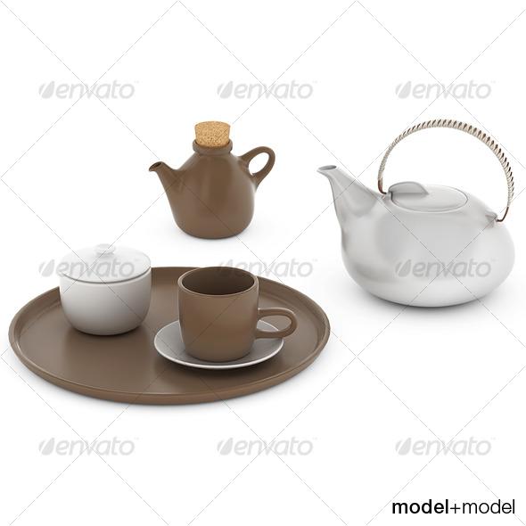 3DOcean Heath ceramics tea set 121943