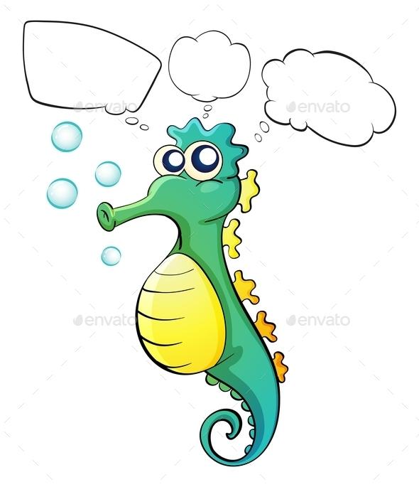 GraphicRiver A Thinking Sea Horse 9552885