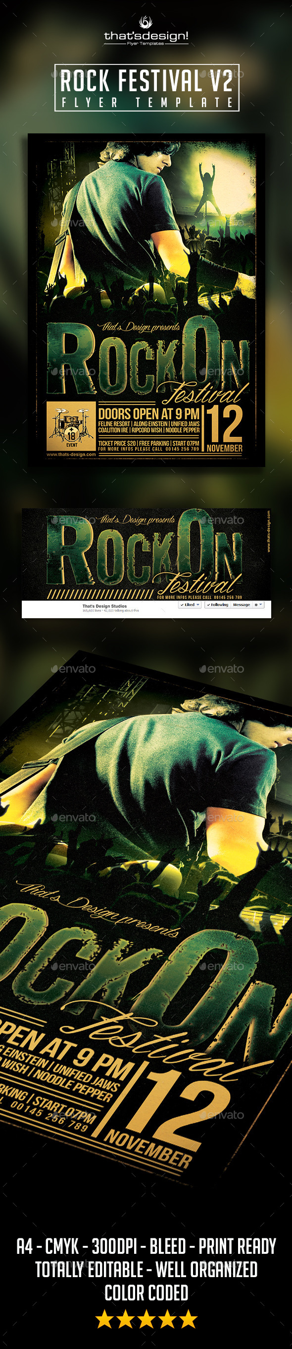 GraphicRiver Rock Festival Flyer Template V2 9552891
