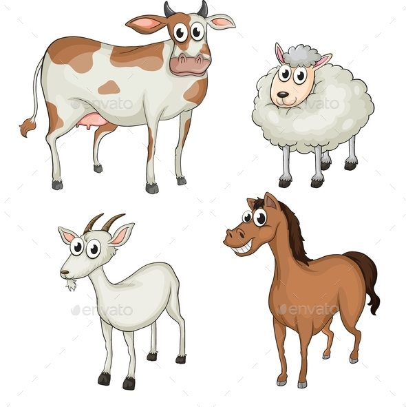 GraphicRiver Farm Animals 9552909