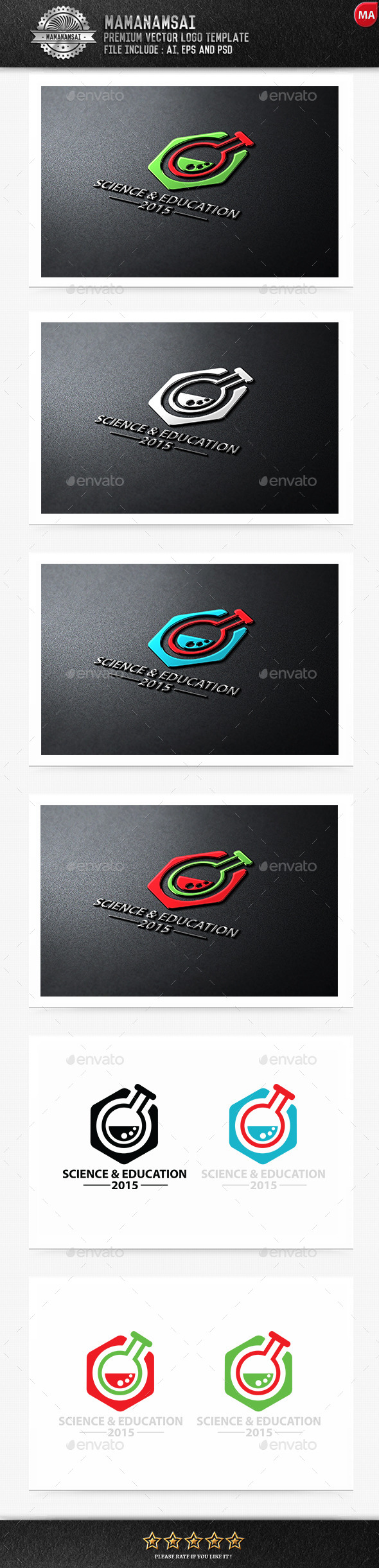 GraphicRiver Science & Education Logo 9552921