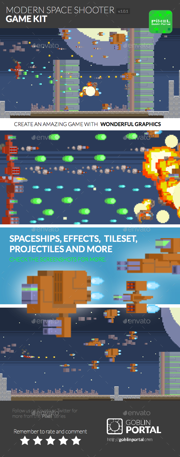 GraphicRiver Modern Spaceship Shooter 9552967