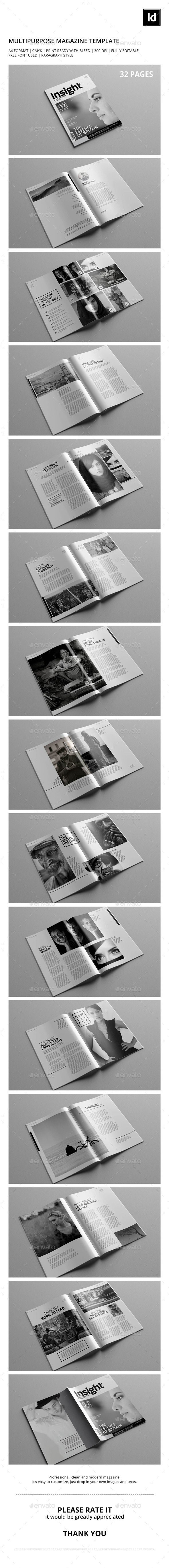 GraphicRiver Black & White Multipurpose Magazine 9553021