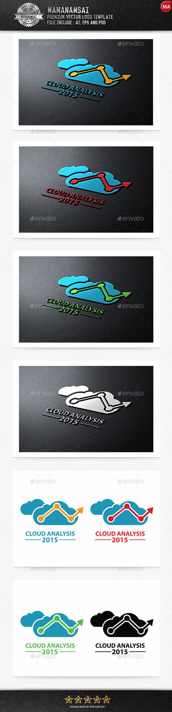 GraphicRiver Cloud Analysis Logo 9553050