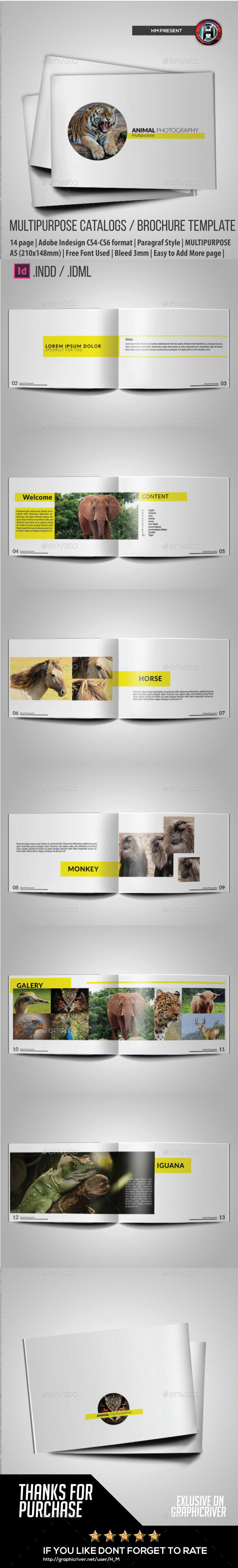 GraphicRiver Minimal Purpose Animal Photography 9553053