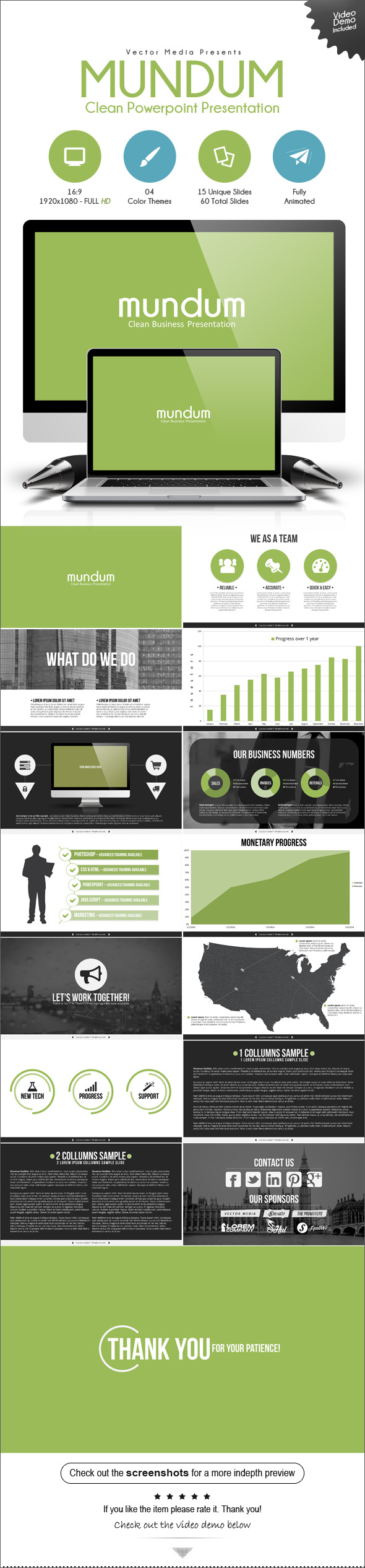 GraphicRiver Mundum Powerpoint Presentation 9487808