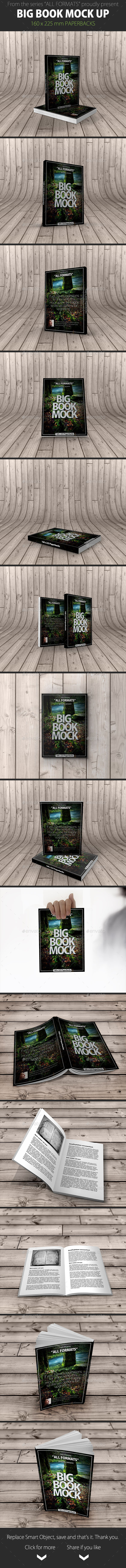 GraphicRiver Book Mockup Dimension 160 x 225 mm Paperbacks 9553265