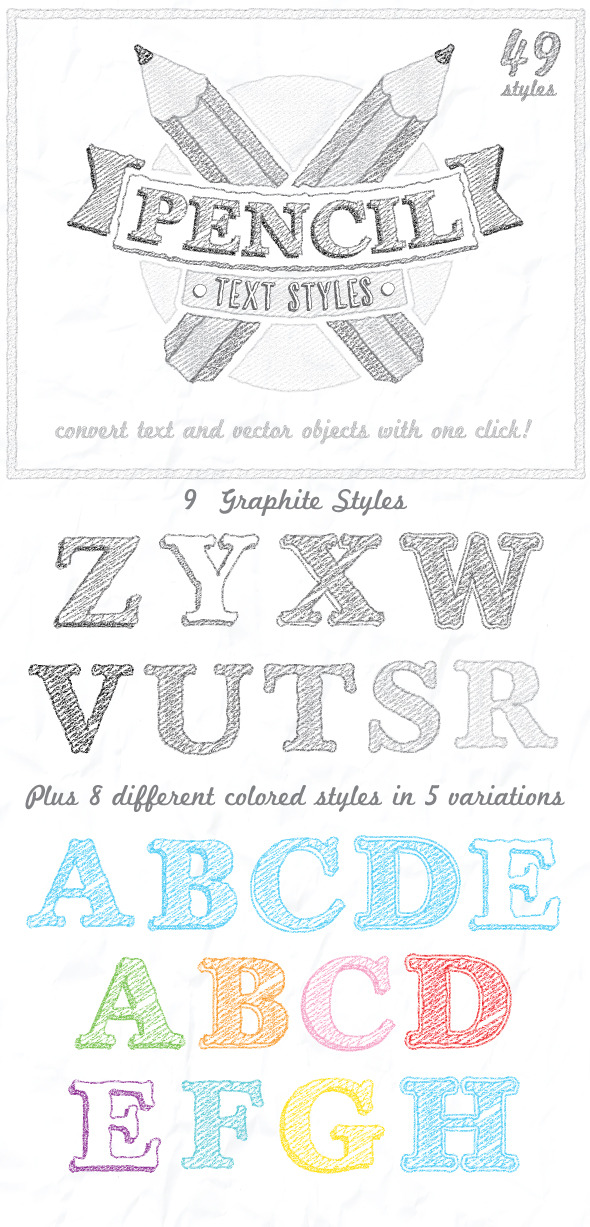 GraphicRiver Pencil Text Styles 9553273