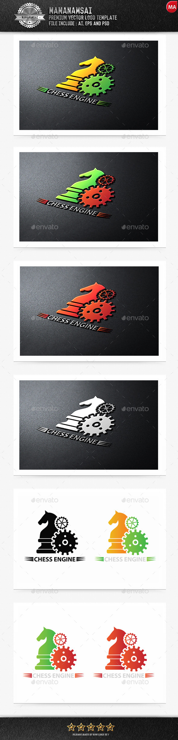 GraphicRiver Chess Engine Logo 9553304