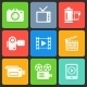 Colorful Media Icons for Web and Mobile. Vector - GraphicRiver Item for Sale