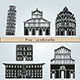 Pisa Landmarks and Monuments - GraphicRiver Item for Sale
