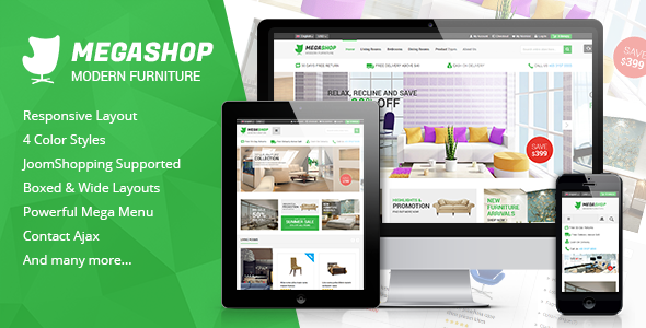 ThemeForest MegaShop Multipurpose Responsive Joomla Template 9553380