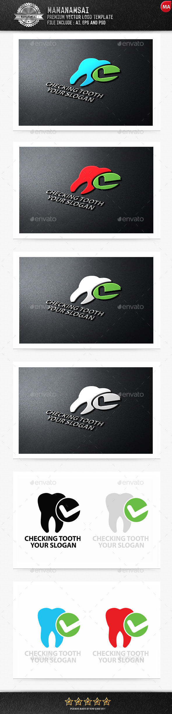 GraphicRiver Checking Tooth Logo 9553393