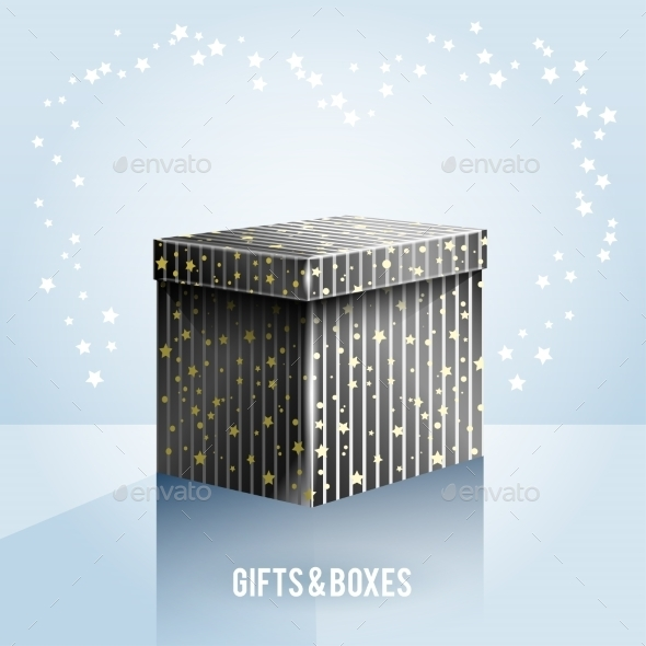 GraphicRiver Black Box on Light Blue Background 9553411