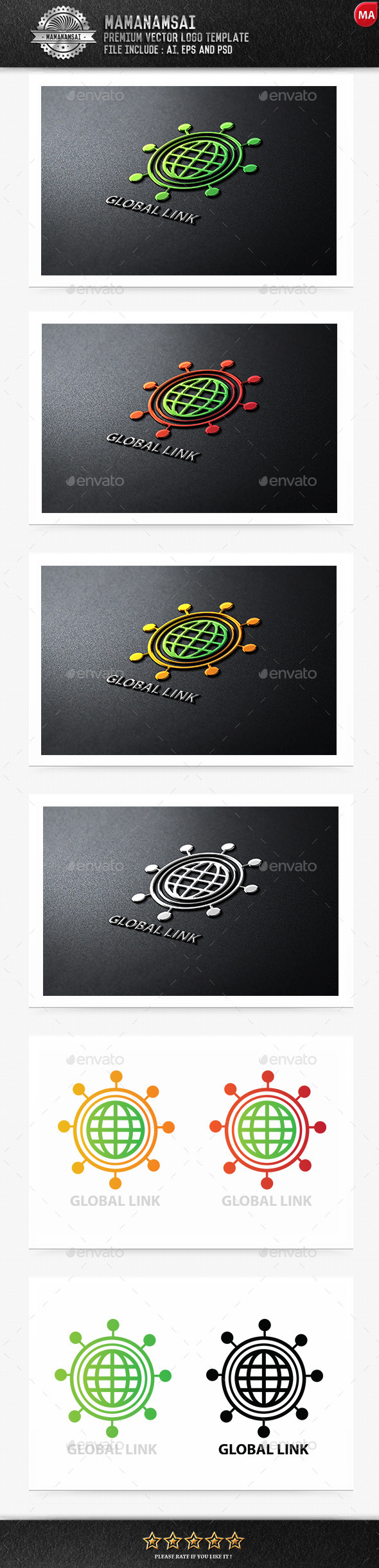 GraphicRiver Global Link Logo 9553432