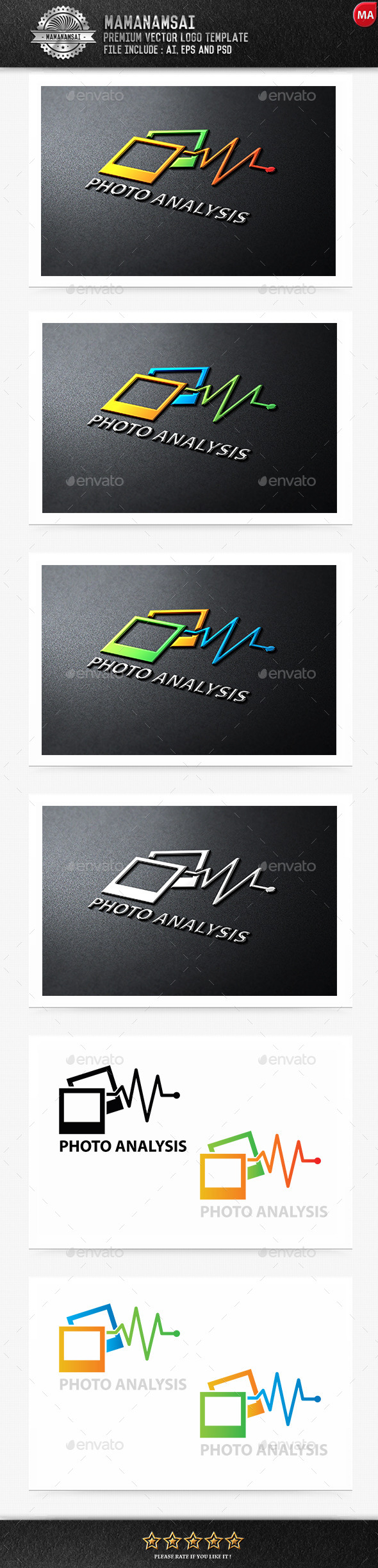 GraphicRiver Photo Analysis Logo 9553479