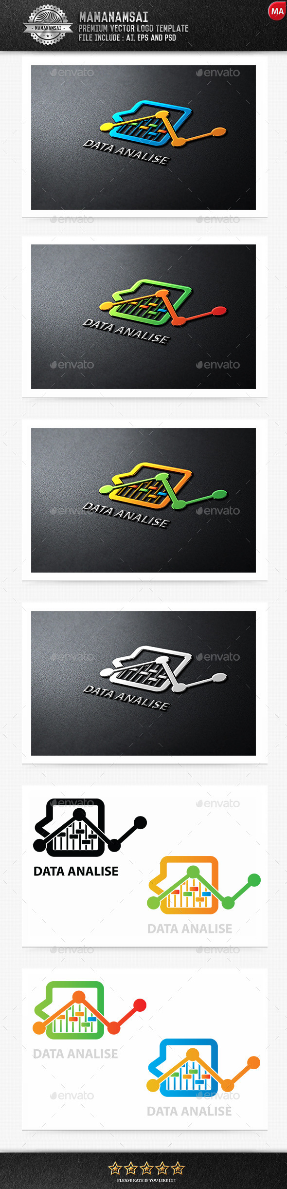 GraphicRiver Data Analysis Logo 9553504