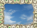 Frame from the dollars on the blue sky - PhotoDune Item for Sale