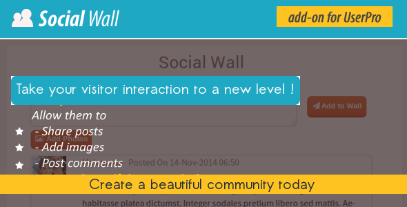 CodeCanyon Social Wall Addon for UserPro 9553858