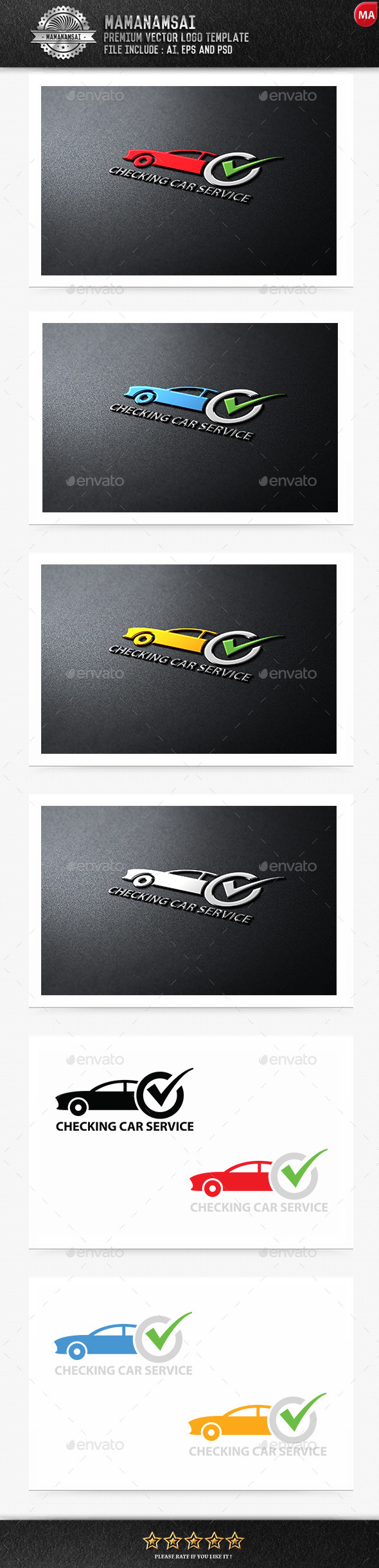 GraphicRiver Checking Car Service Logo 9553950