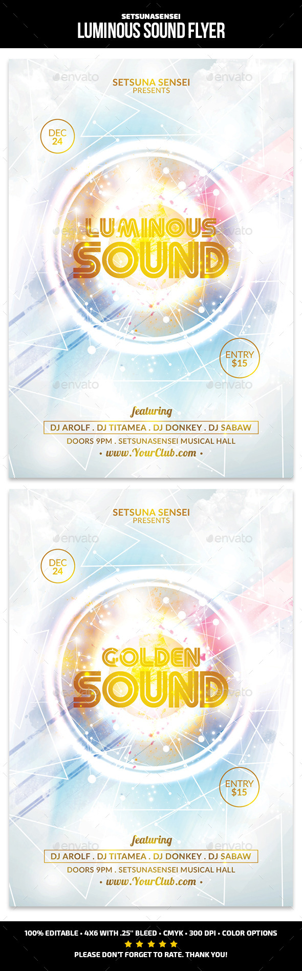 GraphicRiver Luminous Sound Flyer 9553999