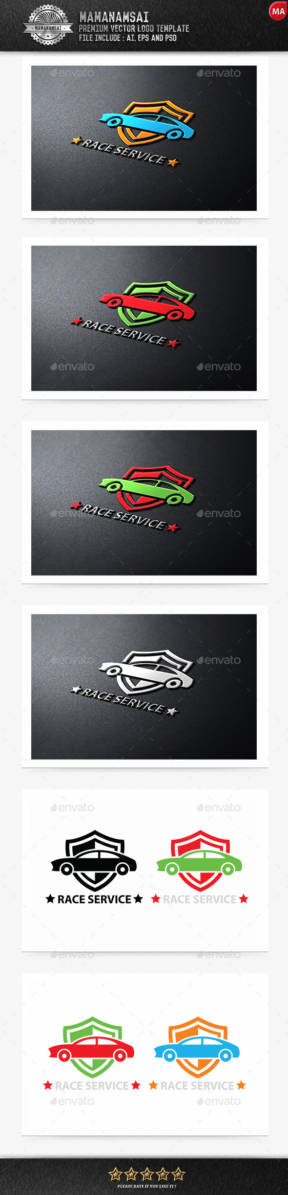 GraphicRiver Race Service Logo 9554023