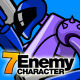 7 Enemy Character Set - GraphicRiver Item for Sale