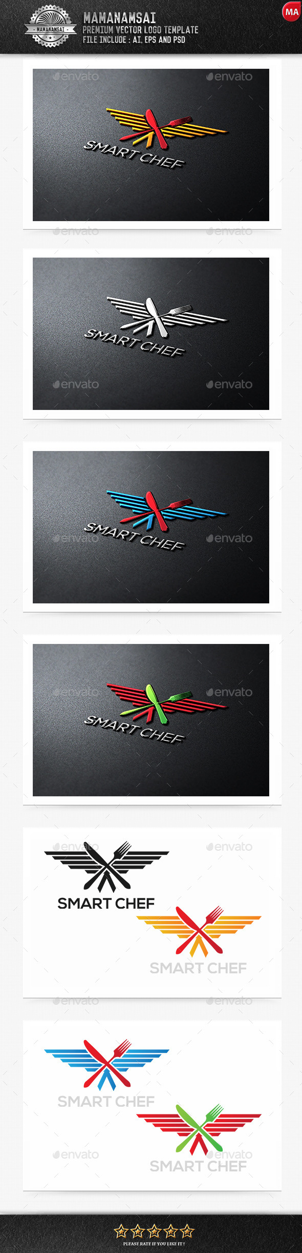 GraphicRiver Smart Chef Logo 9554098