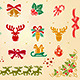 Christmas Decorative Elements Set  - GraphicRiver Item for Sale